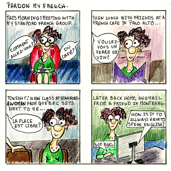 Pardon my French. Comic-strip