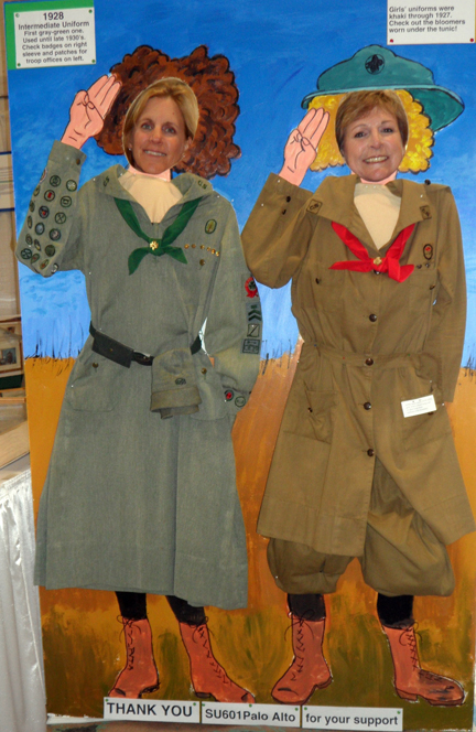 Marina Park and Joyce Richards in vintage Girl Scout uniforms!