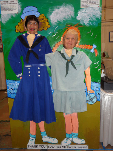 Girl Scout Mariner and Girl Scout Summer Camp uniforms. 1940's.