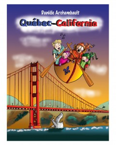 Album de bande dessinée Québec-California. Comic book.