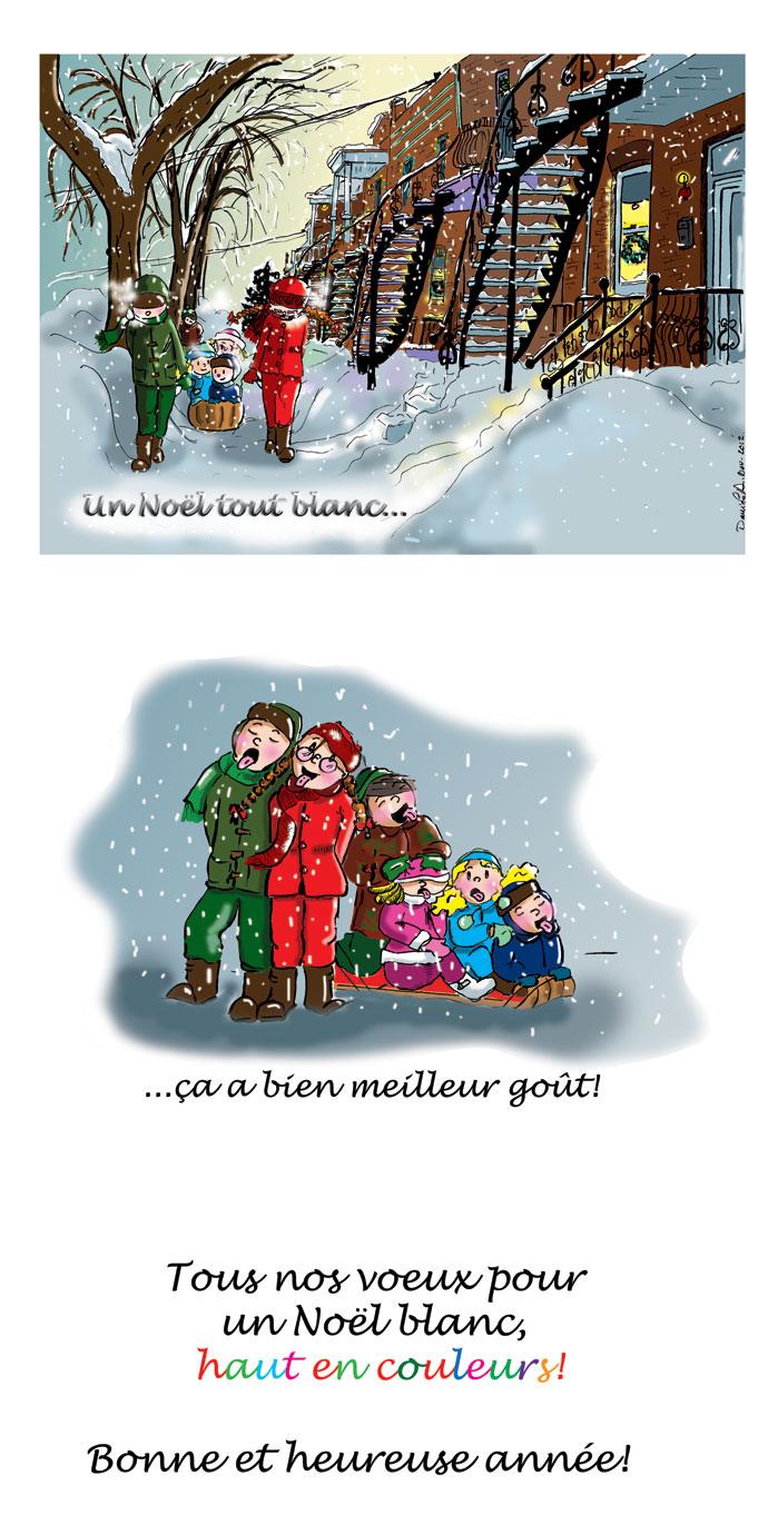 Carte de Noël 2012 par Danièle Archambault