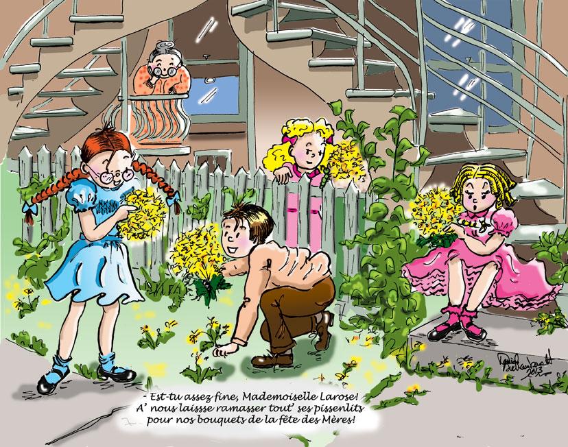 Histoires d'escaliers:La fête des Mères. Bandes dessinées par Danièle Archambault