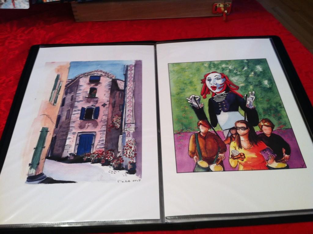 Paper prints by Daniele Archambault. DanieleBD-Comics. Tabloid size.