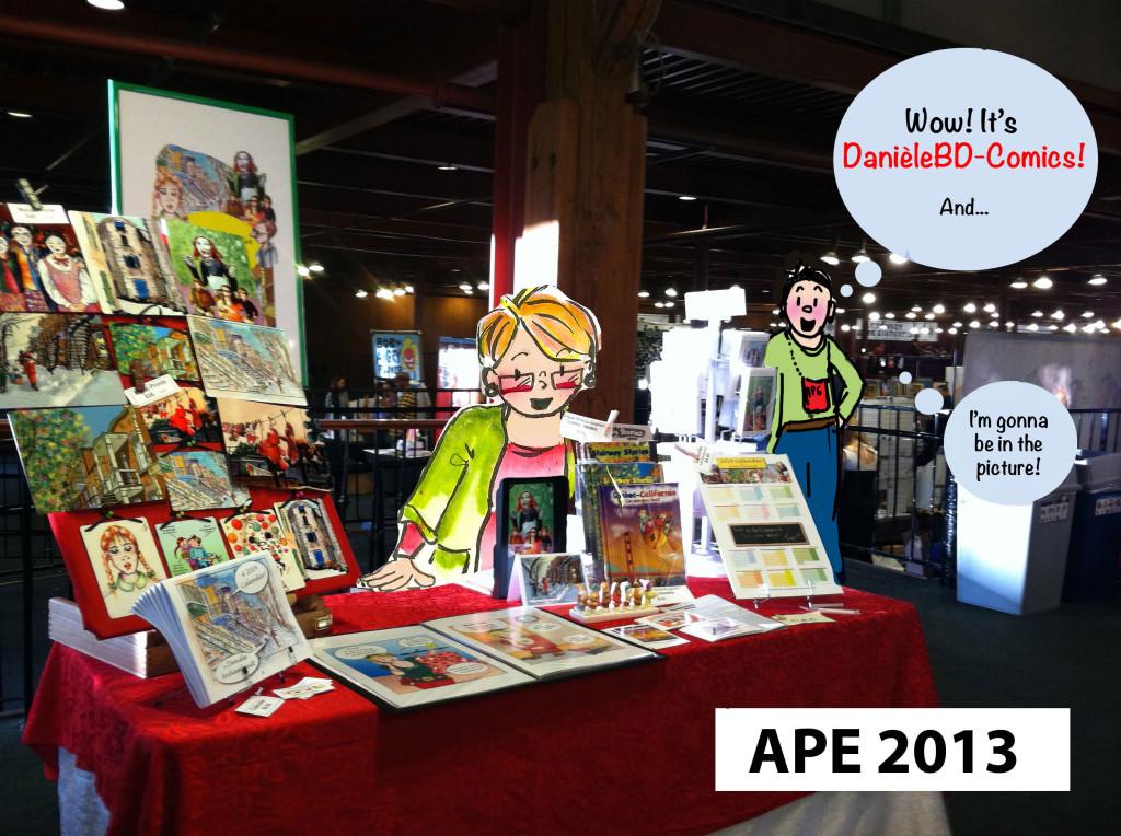 DanieleBD-Comics at APE 2013 in San Francisco. Danièle Archambault