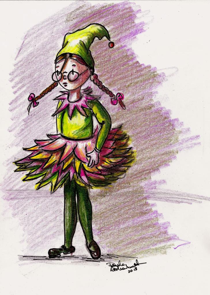 Halloween Pixie-Petite fée d'Halloween. Danièle Archambault