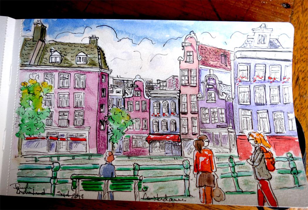 Croquis urbains-Urban Sketching. Amsterdam.