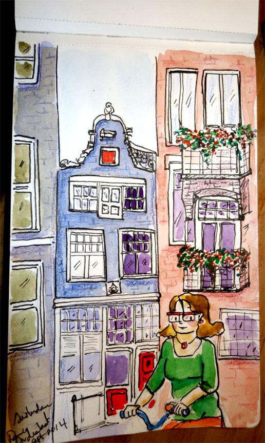 Urban sketching. Amsterdam.