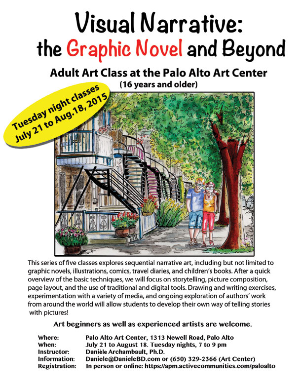 Visual Narrative:   the Graphic Novel and Beyond. Art Class by Daniele Archambault