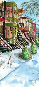 Escaliers et balcons. Montréal.