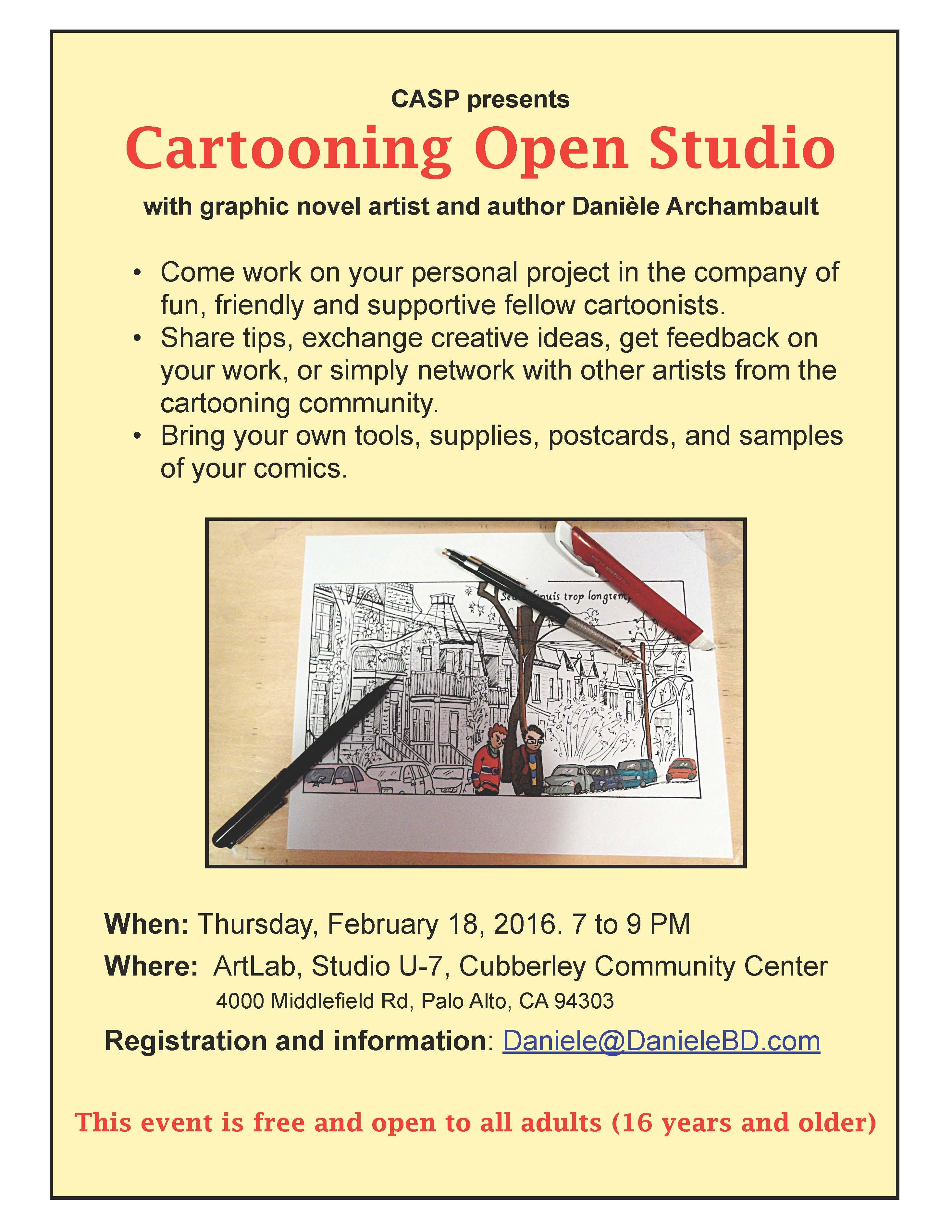 Cartooning Open Studio. Daniele Archambault