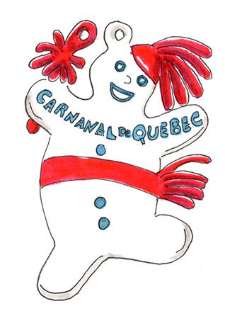 Effigie du Bonhomme Carnaval. Québec, 1959. Danièle Archambault