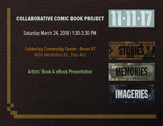 Artists' Book and eBook Presentation of the Veterans Day 2017 Collaborative Comic Book Project