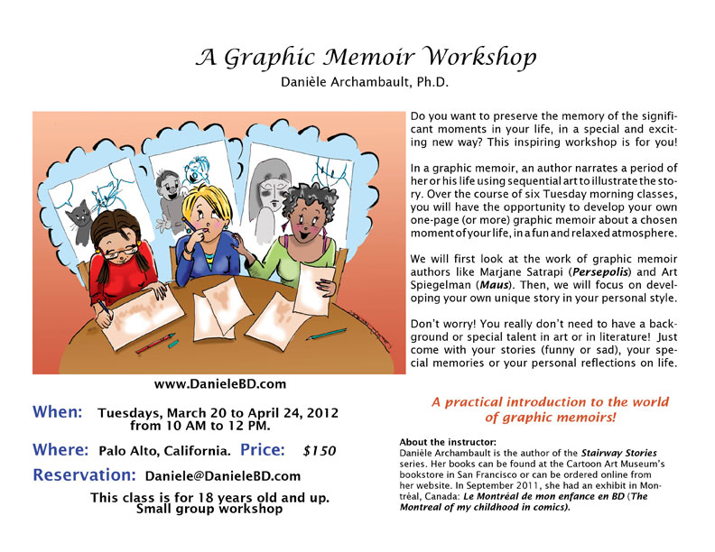 A Graphic-Memoir Workshop from March to April 2012