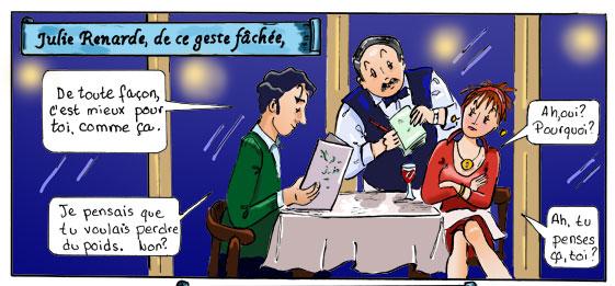 Le Corbeau et la Renarde. Fable en BD de Danièle Archambault. Case #4.