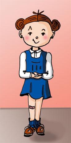 Miche, nouveau personnage de la série de BD Histoires d'escaliers. Danièle Archambault