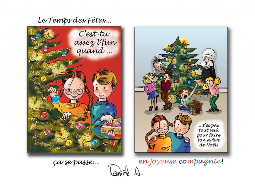 Carte de Noël 2011 par Danièle Archambault