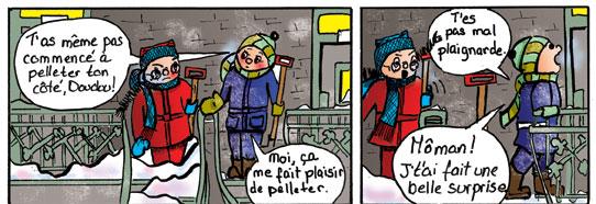 Histoires d'escaliers. Plaisirs d'hiver. Doudou est plaignarde?
