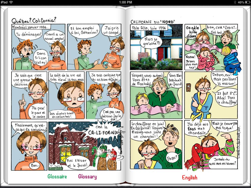 La bande dessinée Québec-California est maintenant disponible en format numérique sur le iBookstore.