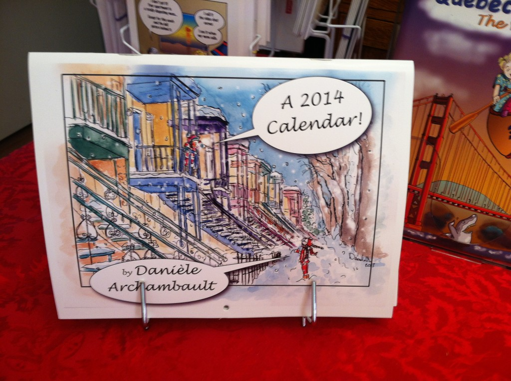 Calendar 2014 by Daniele Archambault. DanieleBD-Comics
