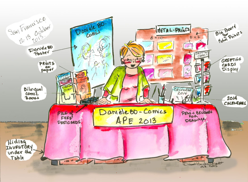 DanieleBD-Comics: Planning my table for APE 2013