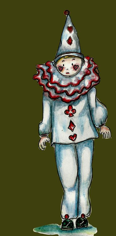 Halloween-Pierrot. Danièle Archambault