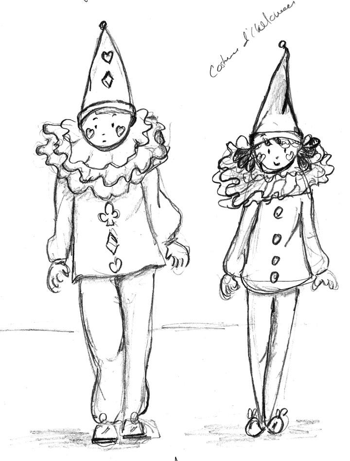 Halloween. Pierrot et Colombine.Danièle Archambault