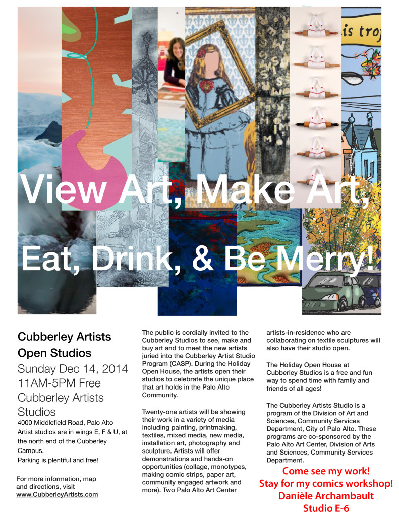 Cubberley Artists Open House-December 14, 2014.