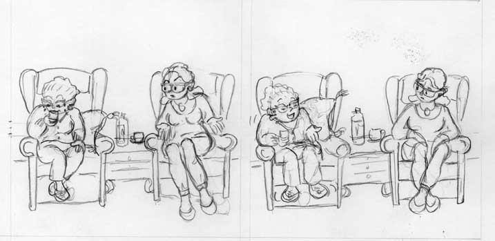 Grand-maman et le scotch