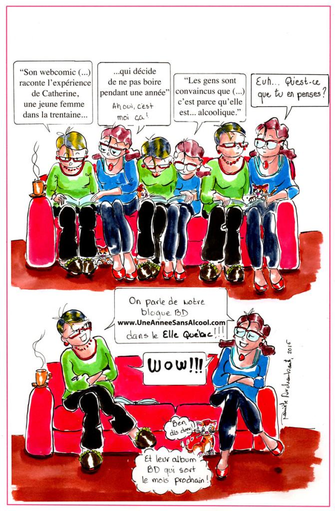 Mon webcomic, le journal de Catherine et le magazine Elle Québec. 2. Danièle Archambault