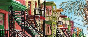 Escaliers de Montréal. Projets BD.