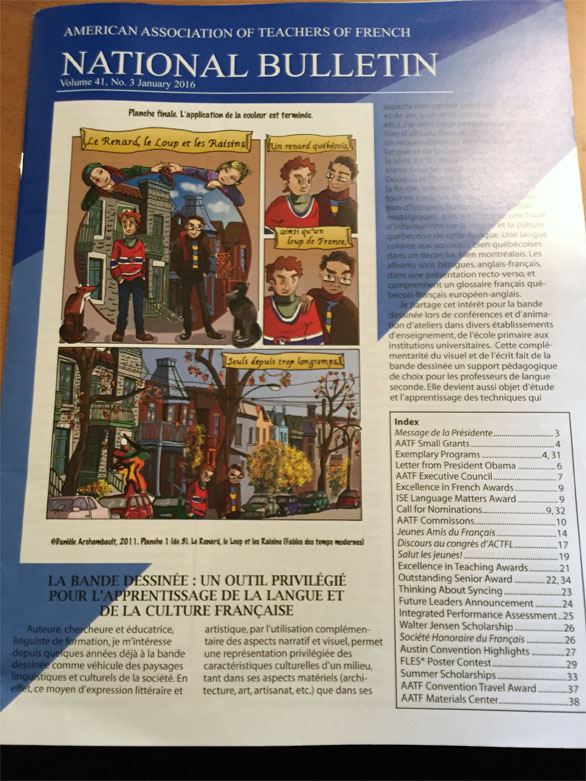 Article sur la BD dans l'enseignement du français.