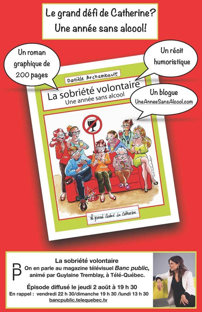 Danièle Archambault discute de sobriété volontaire avec Guylaine Tremblay pour l'émission Banc public, TéléQuébec.
